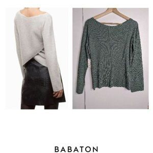 Aritzia Babaton | Kitano Sweater Heather Lily Pad